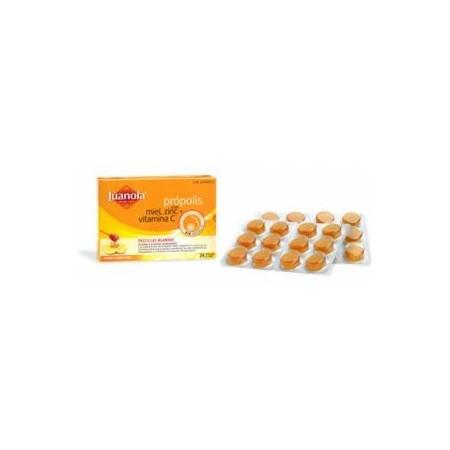 Juanola pastillas Própolis con miel, zinc y vitamina C 24 unidades