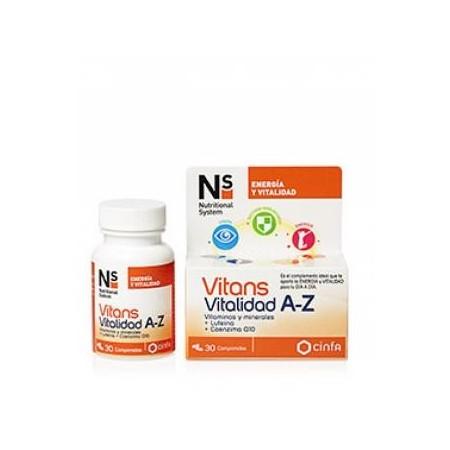 Vitans Vitalidad A-Z 30 comprimidos