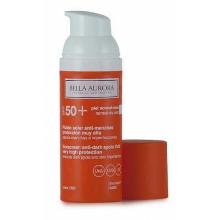 Bella Aurora solar antimanchas SPF50 pieles secas 50 ml + REGALO jabón facial