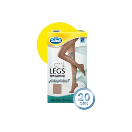 """Scholl medias """"Light Legs"""" 20 DEN carne talla M"""