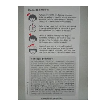 Spray antipiojos OTC fórmula total 125 ml