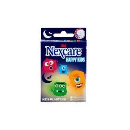 Nexcare 3M Happy Kids 20 tiras adhesivas infantiles monstruos