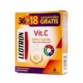 Leotron vitamina C triple protección 36+18 comp eferv