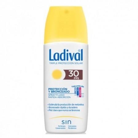 LADIVAL PROTECCION Y BRONCEADO SPRAY FPS30 150 ML