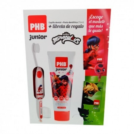 PACK PHB JUNIOR CEPILLO PLUS + PASTA FRESA + REGALO LADYBUG