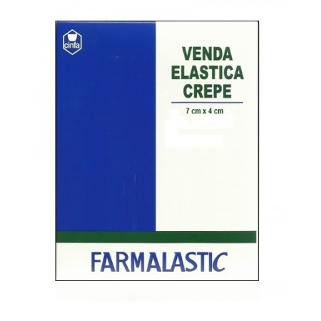 VENDA ELASTICA CREPE FARMALASTIC 4 M X 7 CM