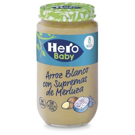 HERO BABY ARROZ CON SUPREMAS DE MERLUZA 1 TARRO 235 G