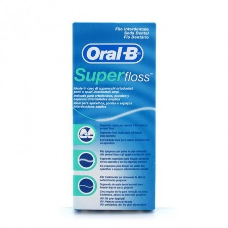 Oral B Super Floss Seda dental 50 m.