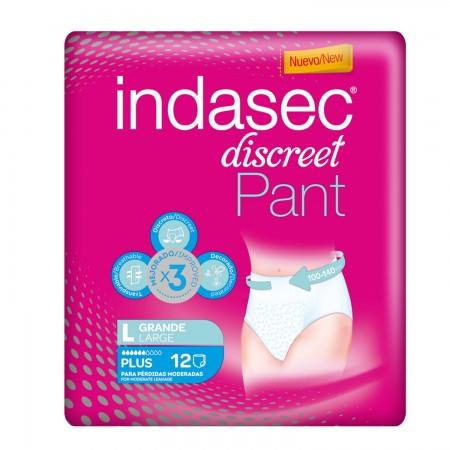 INDASEC PANTS PLUS T.GRANDE 12 UDS