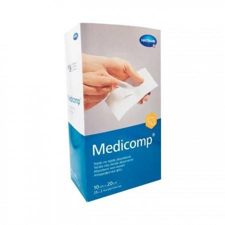 MEDICOMP COMPRESAS NON WOVEN APOSITO ESTERIL 10X20 CM 25*2 UNID.