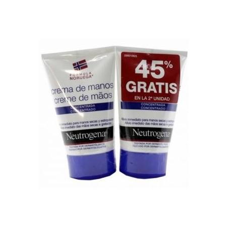 Neutrogena duplo Crema de Manos Concentrada 2x50 ml