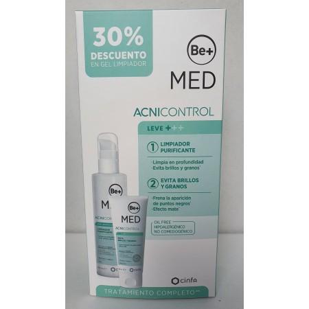BE+ MED ACNICONTROL PACK ACNE LEVE GEL LIMPIADOR 200 + EMULSIÓN 50ML