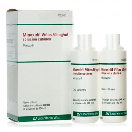 MINOXIDIL VIÑAS 50 MG/ML SOLUCION CUTANEA 240 ML (2X120 ML)