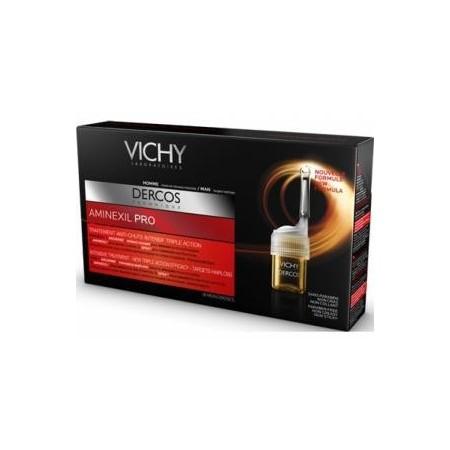 Vichy DERCOS AMINEXIL PRO para Hombre 18 ampollas