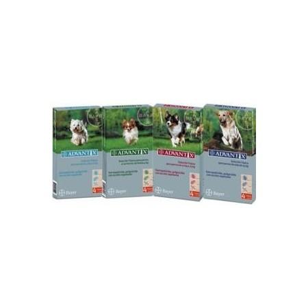 Advantix solución spot-on para perros de hasta 4 kg 4 pipetas